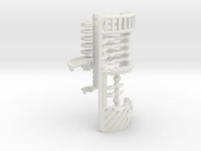 V2-01-2-CC - Master Chassis - Part2 CC Shell in White Natural Versatile Plastic
