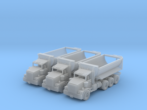 Tri Axle Cylinder Dump Truck N Scale in Smooth Fine Detail Plastic