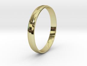 Bracelet Hustle Hard Stay Humble in 18k Gold Plated Brass