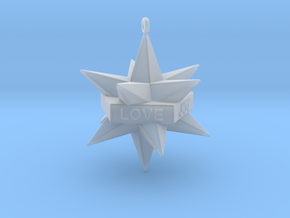 Star Ornament in Smooth Fine Detail Plastic