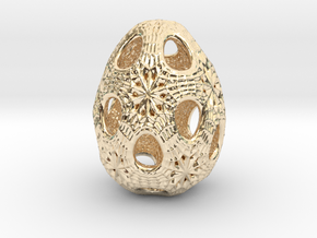 Christmas egg 1 in 14k Gold Plated Brass