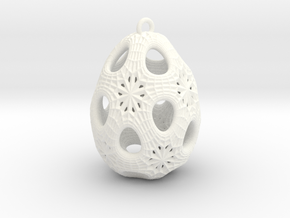 Christmas Egg 1 - Ha in White Processed Versatile Plastic