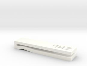 Tie Clip in White Processed Versatile Plastic