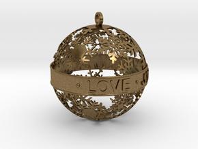 Snowflake Ornament in Natural Bronze