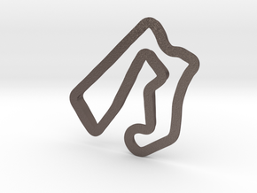 Road America | Small in Polished Bronzed Silver Steel