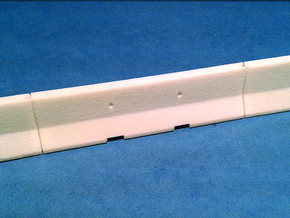 1/50 Jersey Barrier (10 ft/3m) in White Strong & Flexible