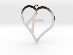 K-Heart Necklace in Platinum
