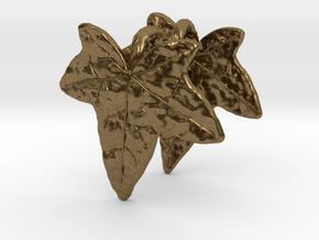 Ivy Leaf Earrings (pair) in Natural Bronze