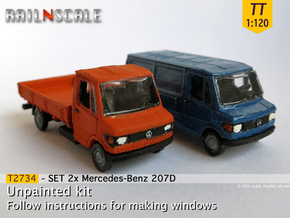 SET 2x Mercedes-Benz 207D (TT 1:120) in Frosted Ultra Detail