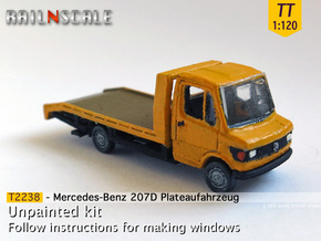 Mercedes-Benz 207D Plateaufahrzeug (TT 1:120) in Frosted Ultra Detail