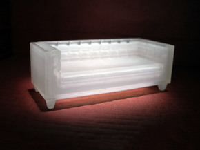 1:48 Sofa in Smooth Fine Detail Plastic