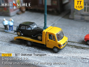 SET Oldtimer Transport (TT 1:120) in Smooth Fine Detail Plastic