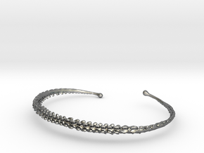 Dino Tail Bracelet  in Fine Detail Polished Silver