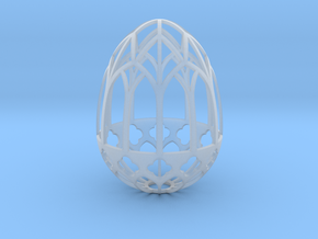 Gothic Egg Shell 1 in Smooth Fine Detail Plastic