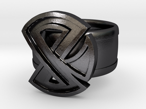 Restraint Ring in Polished Grey Steel: 8 / 56.75