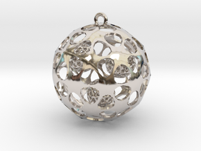 Hadron Ball - 4cm in Rhodium Plated Brass