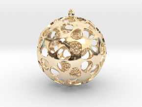 Hadron Ball - 3.8cm in 14k Gold Plated Brass