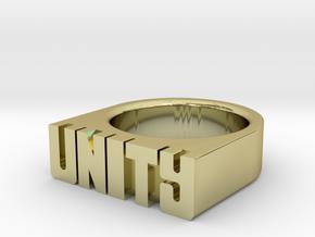 13.3mm Replica Rick James 'Unity' Ring in 18k Gold