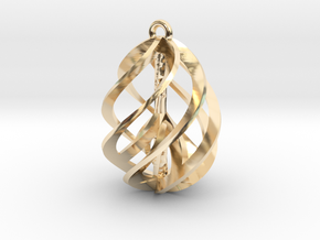 Peace Ascendant - 20mm in 14K Yellow Gold
