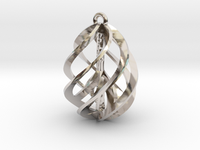 Peace Ascendant - 20mm in Rhodium Plated Brass