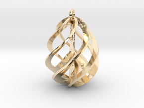 Peace Ascendant - 25mm in 14K Yellow Gold