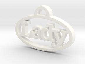Creator Pendant in White Processed Versatile Plastic