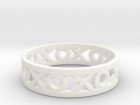 Size 6 Xoxo Ring in White Processed Versatile Plastic