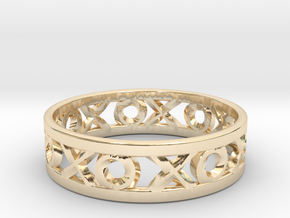 Size 9 Xoxo Ring in 14k Gold Plated Brass