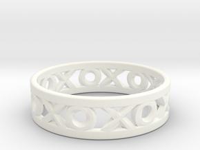 Size 9 Xoxo Ring in White Processed Versatile Plastic