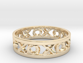 Size 12 Xoxo Ring in 14K Yellow Gold
