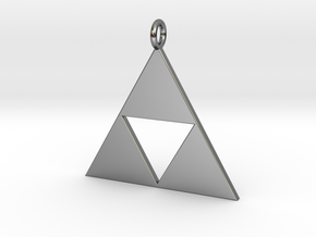 Triforce Pendant in Fine Detail Polished Silver