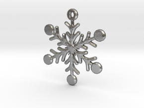 Snowflake Earring/Pendant in Natural Silver