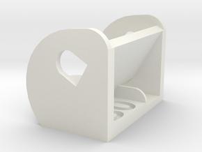 30º FPV Camera Mount in White Natural Versatile Plastic