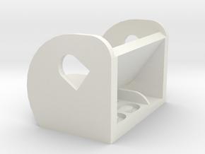 35º FPV Camera Mount in White Natural Versatile Plastic