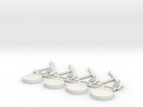 Bungee Trampolin 2.0 -  1:220 (Z scale) in White Natural Versatile Plastic
