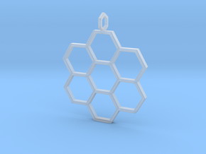 Honeycomb Pendant in Smooth Fine Detail Plastic