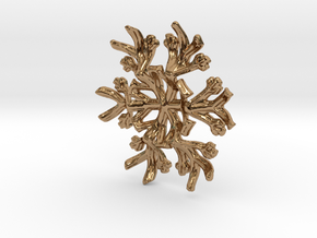 Snowflake Candle Stand 1 - d=60mm in Polished Brass