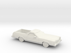 1/87  1977-79 Ford Ranchero in White Strong & Flexible