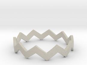 Zig Zag Wave Stackable Ring Size 11 in Natural Sandstone