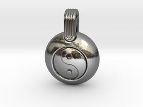 Yin Yang in Fine Detail Polished Silver