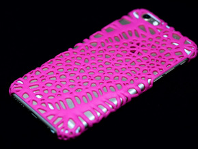 iPhone6 Case Cells (Extreme Voronoi Edition) in Pink Processed Versatile Plastic