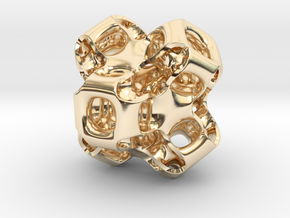 Gyroid Figure in 14K Yellow Gold