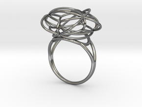 FLOWER OF LIFE Ring Nº2 in Polished Silver