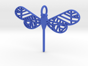 Geometric Dragonfly in Blue Processed Versatile Plastic