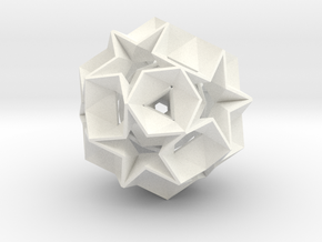 Nested 12 Star Ball in White Strong & Flexible Polished