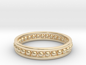 Beaded Ring in 14k Gold Plated Brass