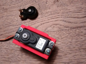 WT01/WR01 Servo Mount in Red Strong & Flexible Polished