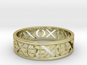 Size 7 Xoxo Ring A in 18k Gold Plated Brass