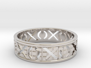 Size 13 Xoxo Ring A in Platinum