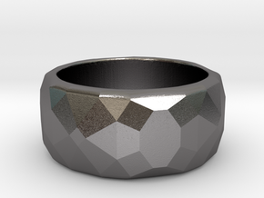 CODE: WP62 - RING SIZE 7 in Polished Nickel Steel